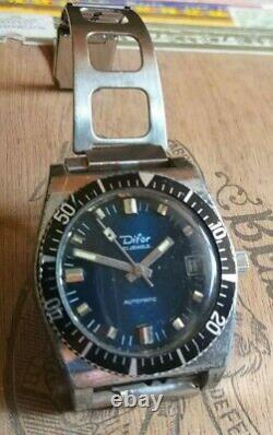 Montre De Plongée Automatique Difor De 1970. Vintage Diver Watch