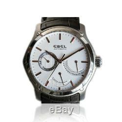 Montre Ebel Hexagone acier, automatique, réserve de marche, Watch