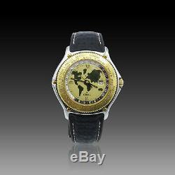 Montre Ebel Voyager Or & Acier Automatique 37 mm bracelet Requin