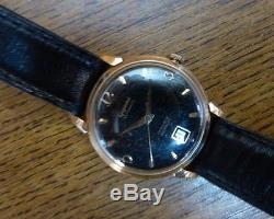 Montre Gigandet Homme automatique boite or 18K sur bracelet cuir