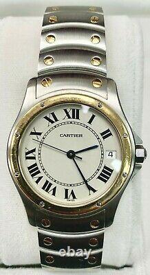 Montre Homme Cartier Santos Ronde 1910 Or Et Acier Automatique