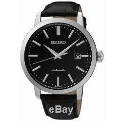 Montre SEIKO Homme SRPA27K1 Acier Tradition Automatique Cuir noir