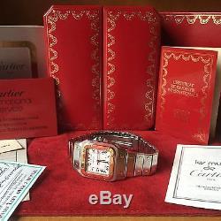 Oramp; Automatique Set De Santos Acier Montre Cartier Homme Full 3AL54Rjq
