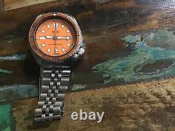 Montre Seiko Automatique 6309 729A date acier inoxoxydable diver 150 m