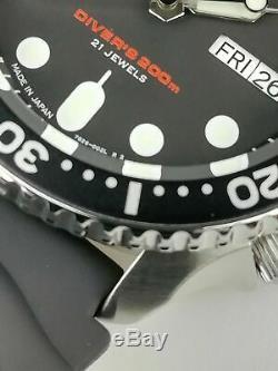 Montre Seiko Diver's Homme Luxe Noir Plongeurs Automatique 200m SKX007J1 +CERTIF