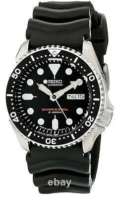 Montre Seiko SKX007J1 Diver's Homme Luxe Noir Plongeurs Automatique 200m +CERTIF