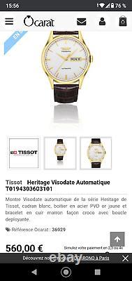 Montre TISSOT Héritage Visodate Automatique