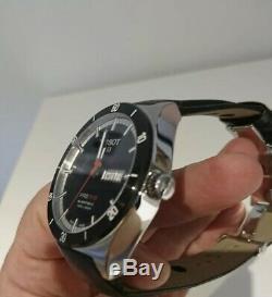 Montre TISSOT Homme Automatique PRS516 bracelet cuir À Boucle Déployante