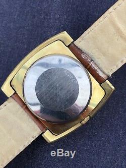 Montre Vintage Lip Retrograde Automatique Plaqué Or Designer Rare Collection