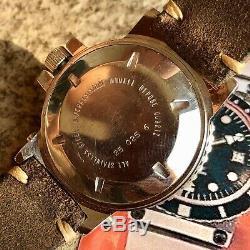 Montre YEMA Automatique Navygraf 2 1978 acier diving plongée vintage