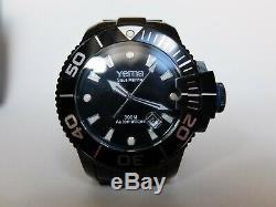Montre YEMA Sous Marine Automatique Homme acier noir plongée occasion