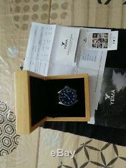 Montre Yema Superman Automatique bleu mysterieux YMHF1550A. 40 mm diametre
