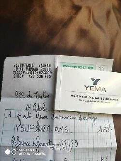 Montre Yema Superman Héritage Automatique ETAT NEUF 10/19 sous Garantie