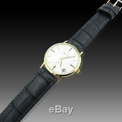 Montre Zenith Vintage en Or jaune 18k vers 1970. Automatique. 34 mm