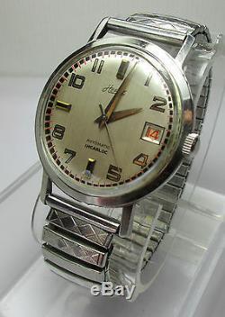 Montre ancienne HERBE Montre Automatique Boitier Acier Vintage Watch Année 1960