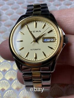 Montre ancienne vintage watch yema day date automatique automatic Mvt Seiko