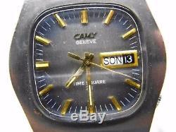 Montre automatique CAMY TIME SQUARE 29 mouvement ETA 2789, vintage