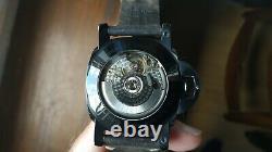 Montre automatique KASHIDUN hommage panerai, PVD noir, seagull ST25, saphirre