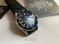 Montre automatique ORIENT Ray II bleue verre saphir double dôme superbe