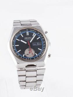 Montre automatique Seiko Chronograph 6139-7080 Black Dial (1977)