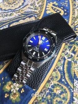 Montre automatique Seiko Prospex SBDC055 avec bracelet Strapcode et Hirsch