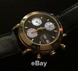 Montre automatique chronographe REPCO en or 18 carats