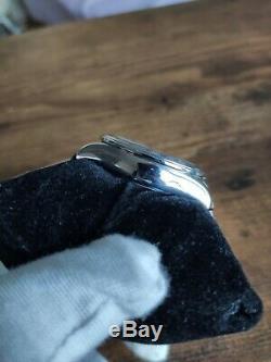 Montre automatique suisse chronographe Longines Admiral cadran bleu très rare