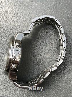 Montre chronographe automatique Louis Erard 77254 Noire Valjoux 7750 Tout Acier