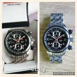 Montre chronographe automatique suisse VICTORINOX, ETA 7750 Valjoux, 42mm. Rare