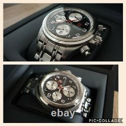 Montre chronographe automatique suisse panda VICTORINOX, ETA 7750 Valjoux. Rare