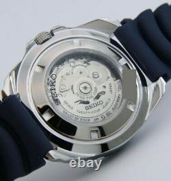 Montre de plongé Seiko Automatique NEUF homme 24 Jewels 4R36A bleu marine