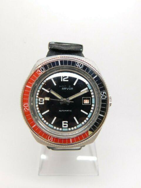Montre De Plongée Super Arvor Automatique Eta 2783 Lunette Bakélite Diver Watch