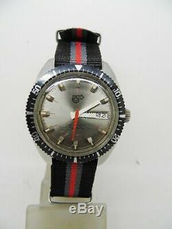 Montre de plongée automatique CAMIF mouvement FE 3612 vintage 1970