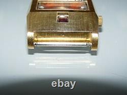 Montre homme automatique MATY suisse à guichet plaqué or 21 jewels / testé ok