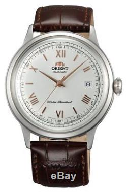 Montre homme automatique Orient Bambino FAC00008W automatic cuir leather Bambino