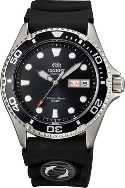 Montre Homme Automatique Orient Mako Ray Ii Faa02007b Bracelet Caoutchouc