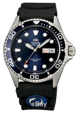 Montre homme automatique Orient Mako Ray II FAA02008D bleu bracelet caoutchouc