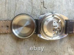 Montre lip R 147 automatique, années 1960, acier et or, big case 36 mm