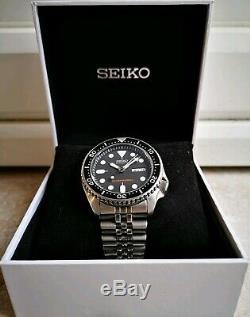 Montre luxe homme Seiko automatique DIVER'S 200m SKX007 (avec verre SAPHIR!)