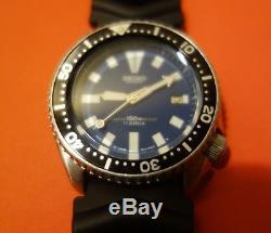 Montre plongée automatique SEIKO 7002 7000, 150m (divers watch) rare SKX