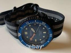 Montre style plongée automatique, mouvement Seiko NH35a, customisée, neuve