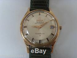 Montre tout or 18K Oméga constellation automatique Pie Pan / calibre 561 / 1962