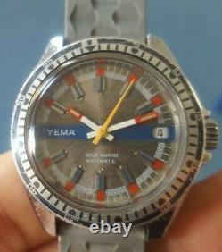 Montre vintage automatique Yema Sous-Marine FE 4611 (idem Superman)