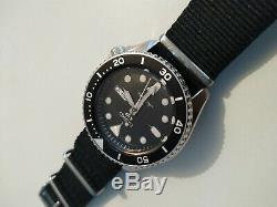 Nouvelle montre Automatique Seiko 5, Noir, 42,5 mm, SRPD55K3 + 2 bracelets Nano