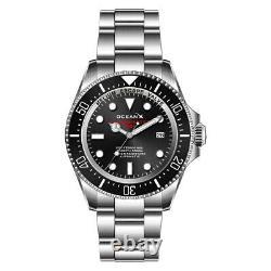 OceanX SHARKMASTER 1000 Automatique Acier Date Noir Saphir Diver Montre Homme