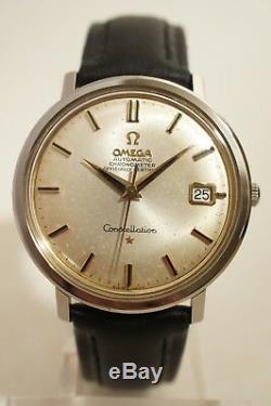 Omega Constellation Acier Automatique, Date, Certifie Chronometre, 1967