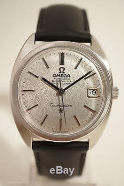 Omega Constellation Acier, Automatique, Date, Certifie Chronometre, 1969