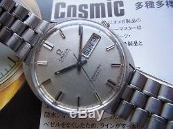 Omega Seamaster Cosmic Cal. 752 1969 Rétro Jour-Date Ss Montre Homme Automatique