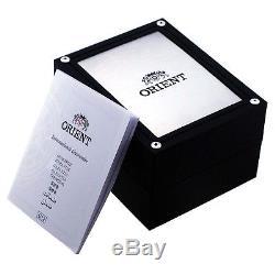 Orient Homme 41mm Bracelet Cuir Noir Automatique Analogique Montre Fev0v003bh