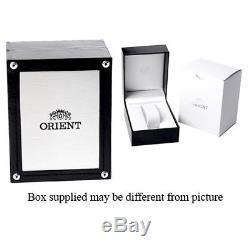 Orient Homme Automatique Noir Cuir Bracelet Minéral Verre Montre Fez09004w0